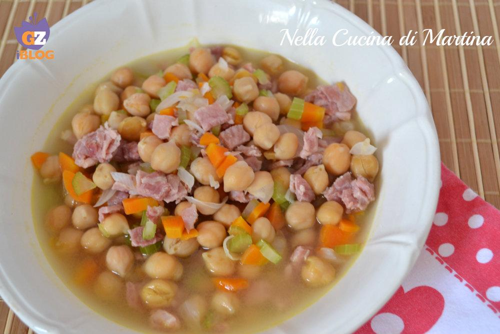 minestra di ceci ricetta Nella cucina di martina