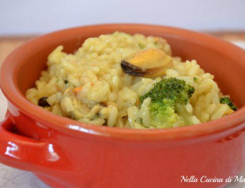 Risotto con cozze e broccoletti