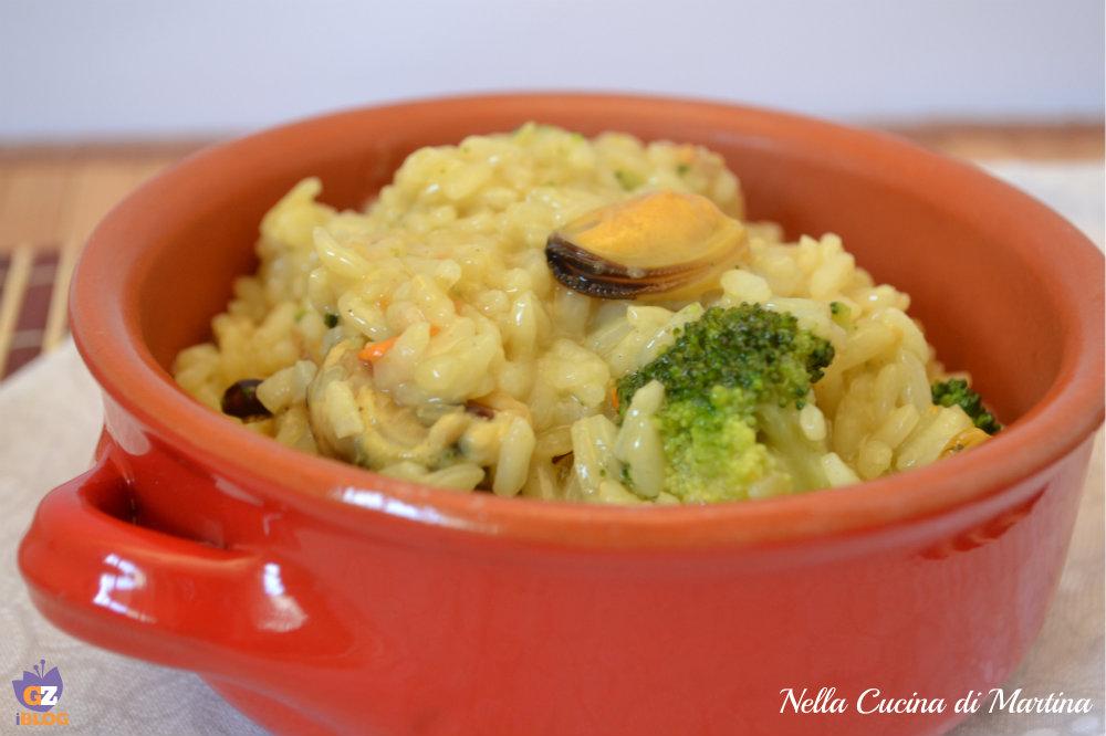 risotto cozze e broccoletti ricetta nella cucina di martina