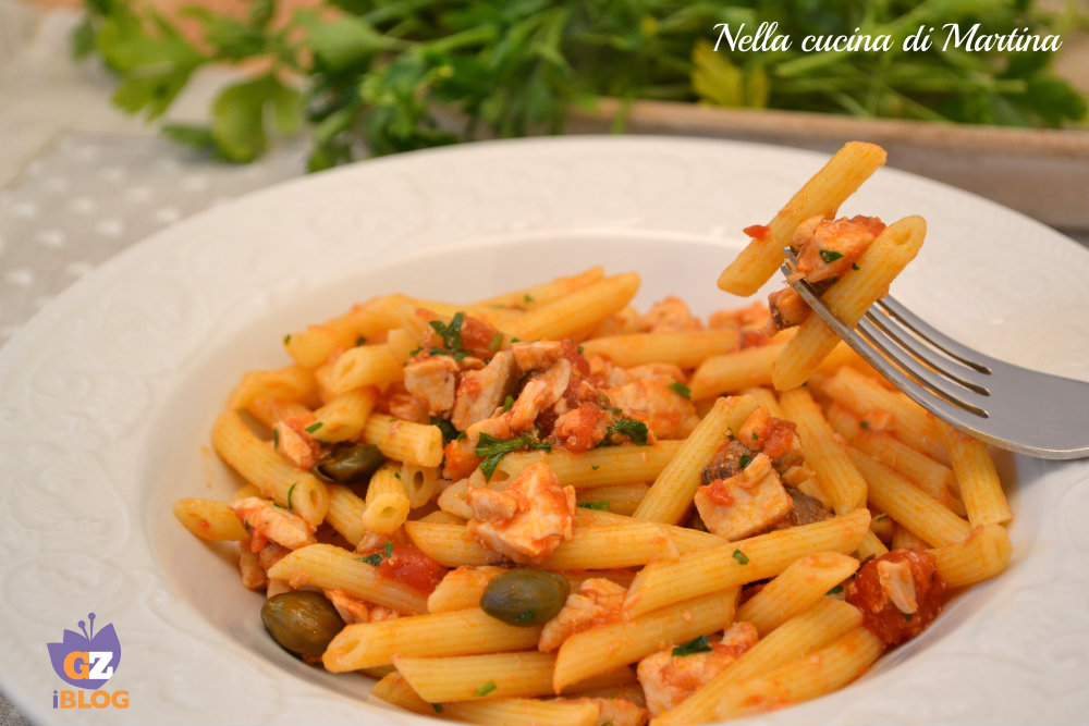 pasta al pesce spada fresco ricetta nella cucina di Martina