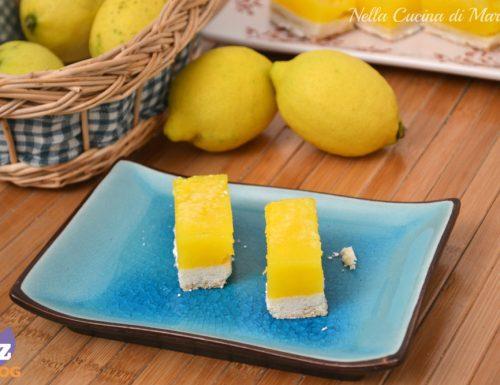 Lemon bars – barrette al limone-