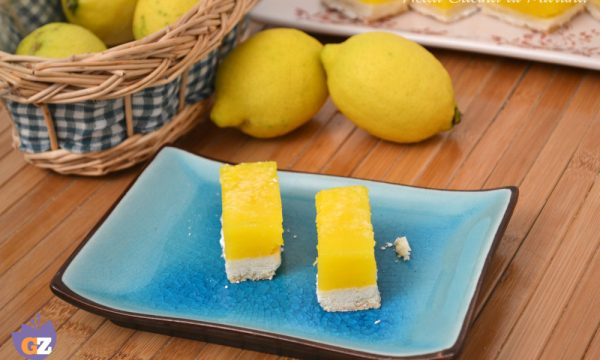 Lemon bars – barrette al limone-