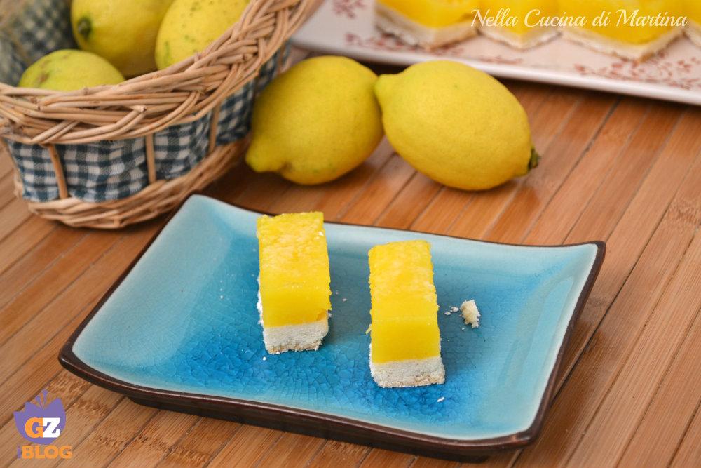 lemon bars barrette al limone