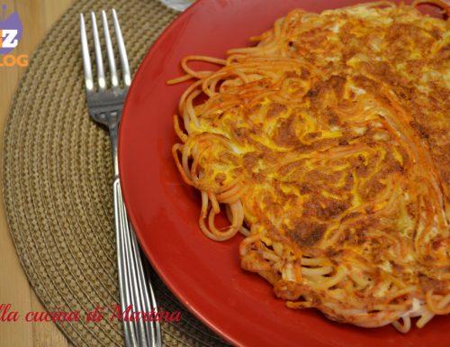 Frittata di spaghetti del giorno dopo