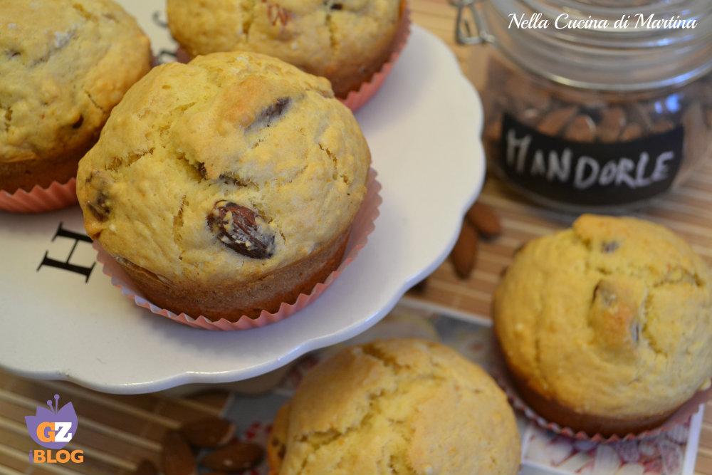 muffin al miele e mandorle ricetta nella cucina di Martina