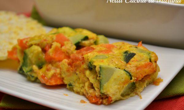 Tortino di uova con verdure
