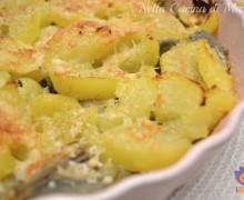 Teglia di carciofi e patate