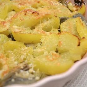 teglia di carciofi e patate ricetta nella cucina di martina