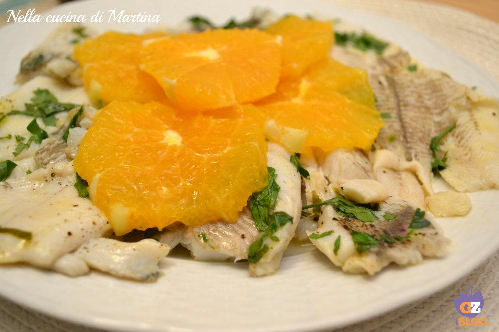 platessa all'arancia ricetta nella cucina di Martina
