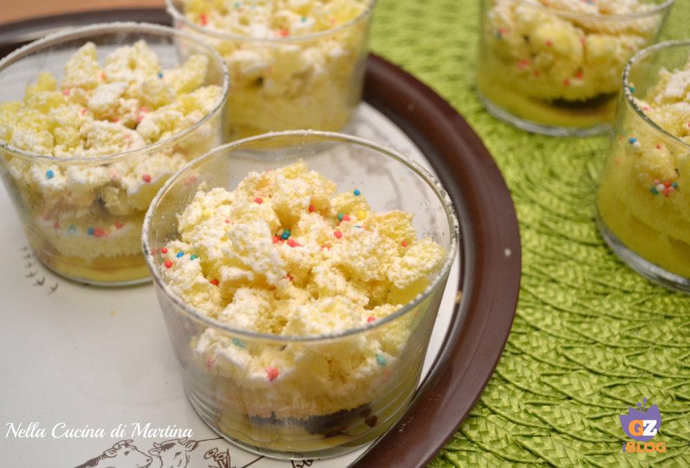 torta mimosa in bicchiere ricetta blog nella  cucina di martina