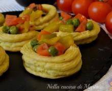 Cestini di patate con verdure