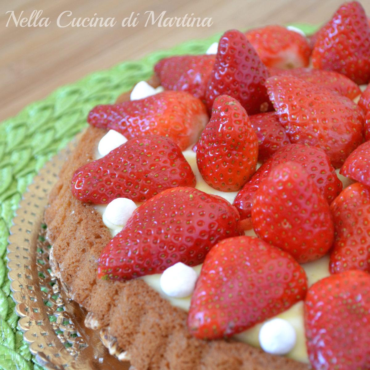 torta di fragole ricetta nella cucina di martina