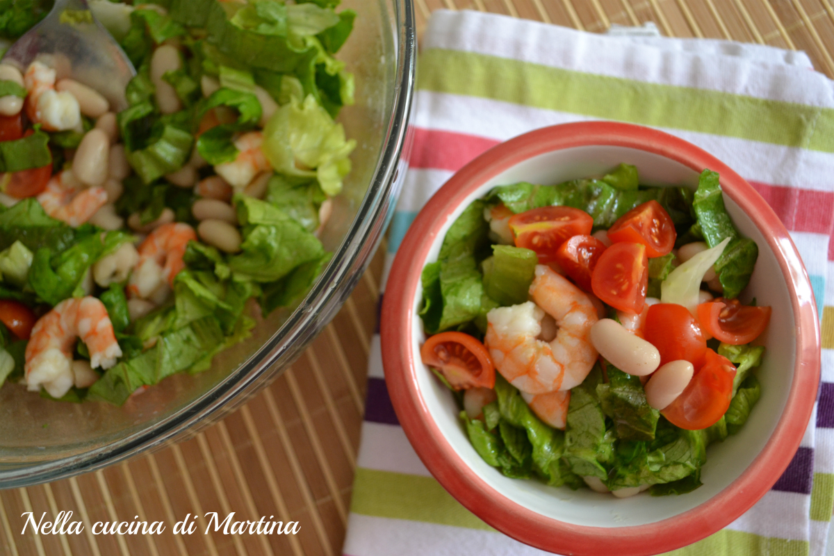 insalata di gamberetti e fagioli