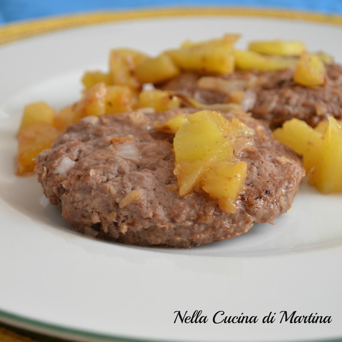 hamburger con ananas ricetta