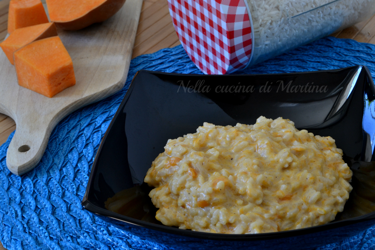risotto con crema di zucca