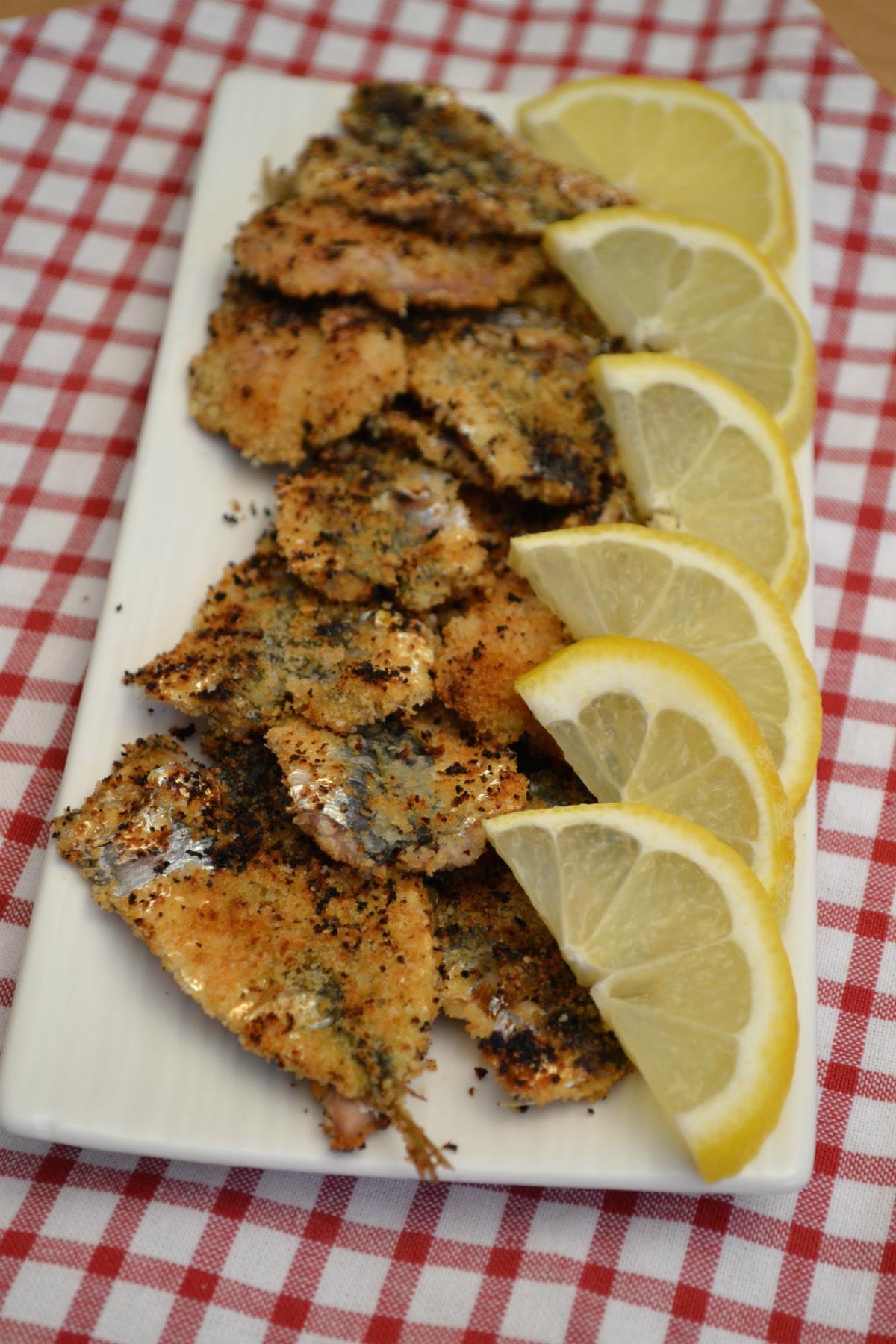 sardine arrosto ricetta nella cucina di martina