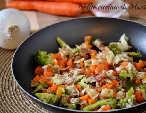 Verdure con pancetta