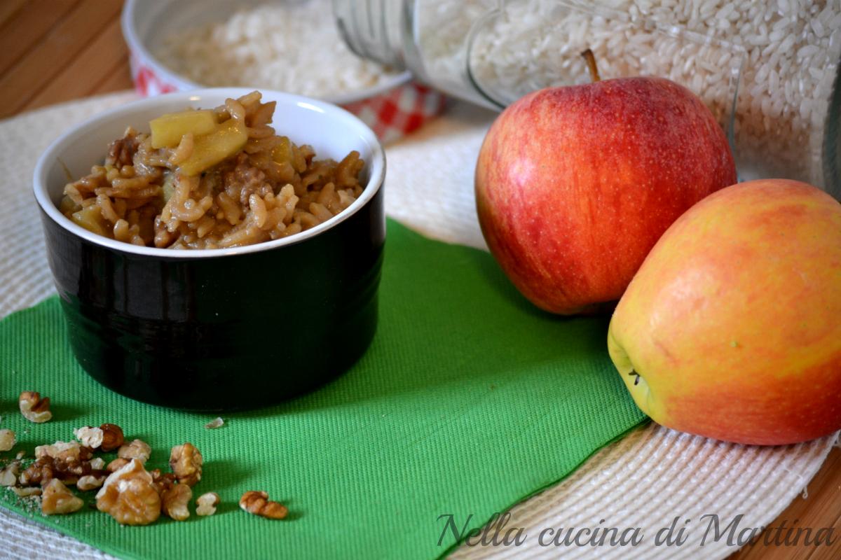 risotto con mele e noci