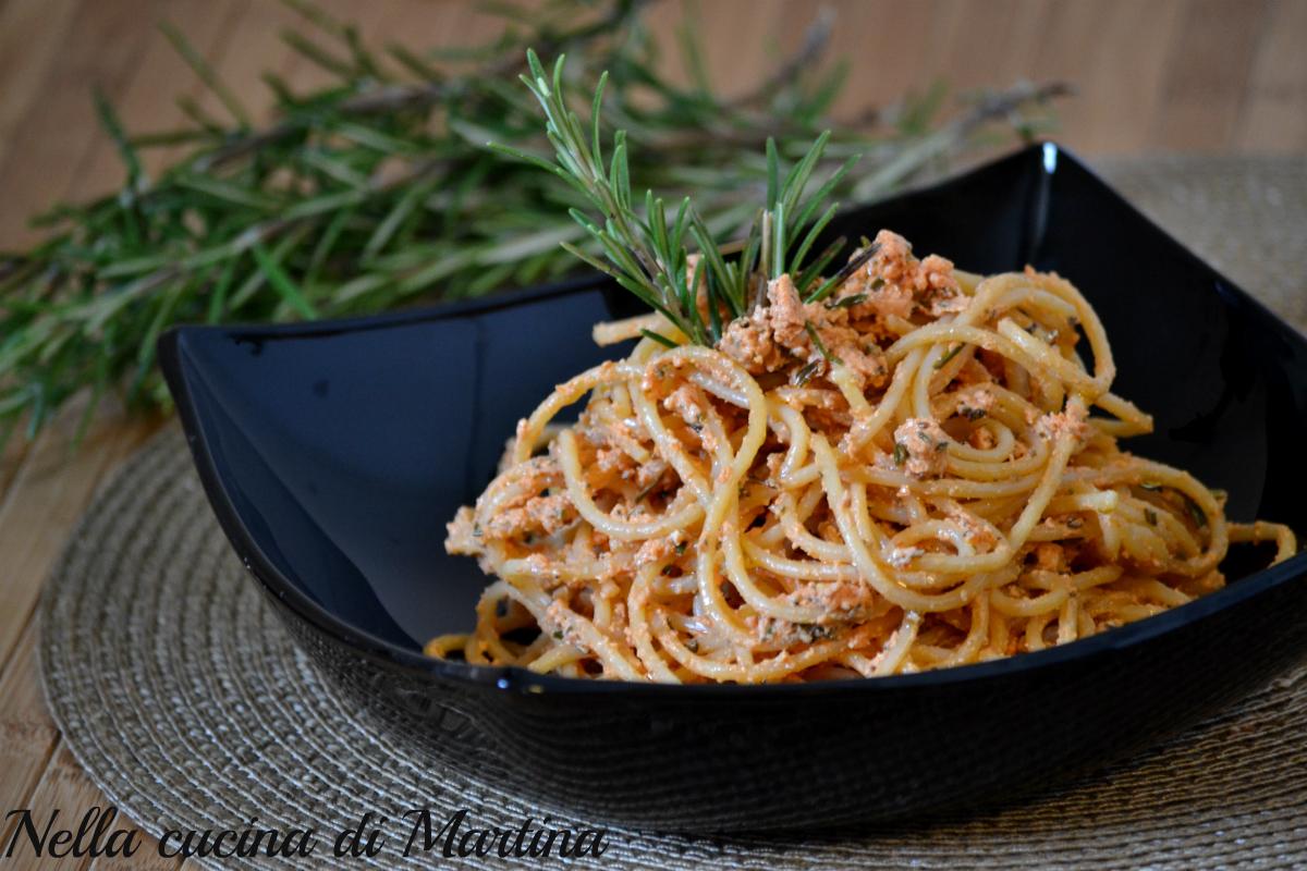 spaghetti al rosmarino