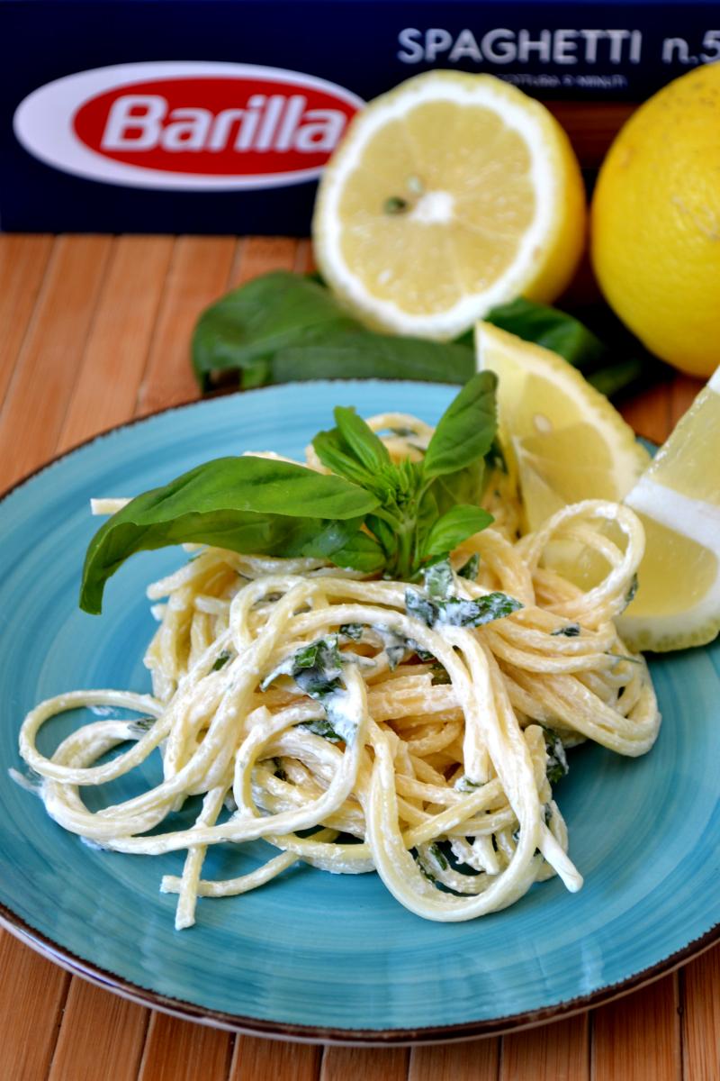 spaghetti con crema d limone
