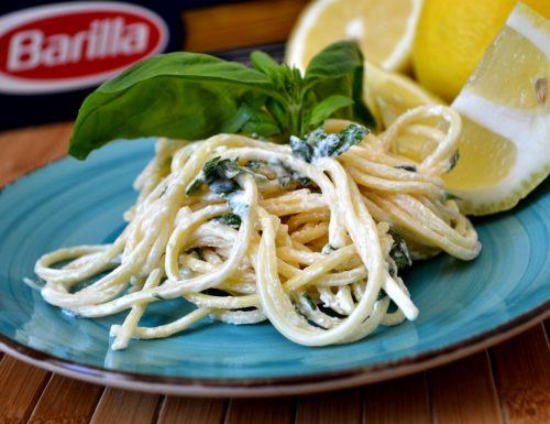 Spaghetti con crema di limone