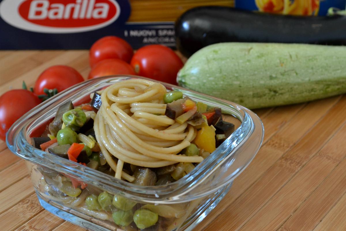 spaghetti con sugo arcobaleno 2