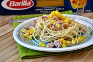 Spaghetti tonno e mais
