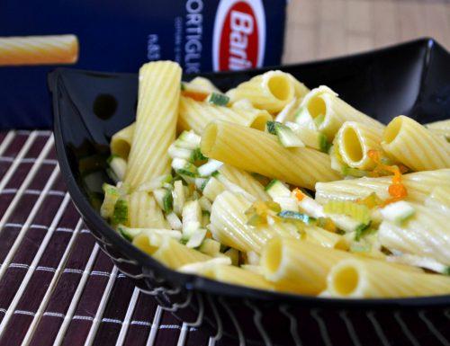 Tortiglioni in insalata allo zafferano