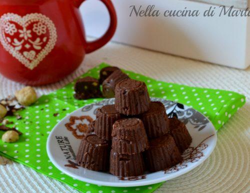 Cioccolatini morbidi alle nocciole