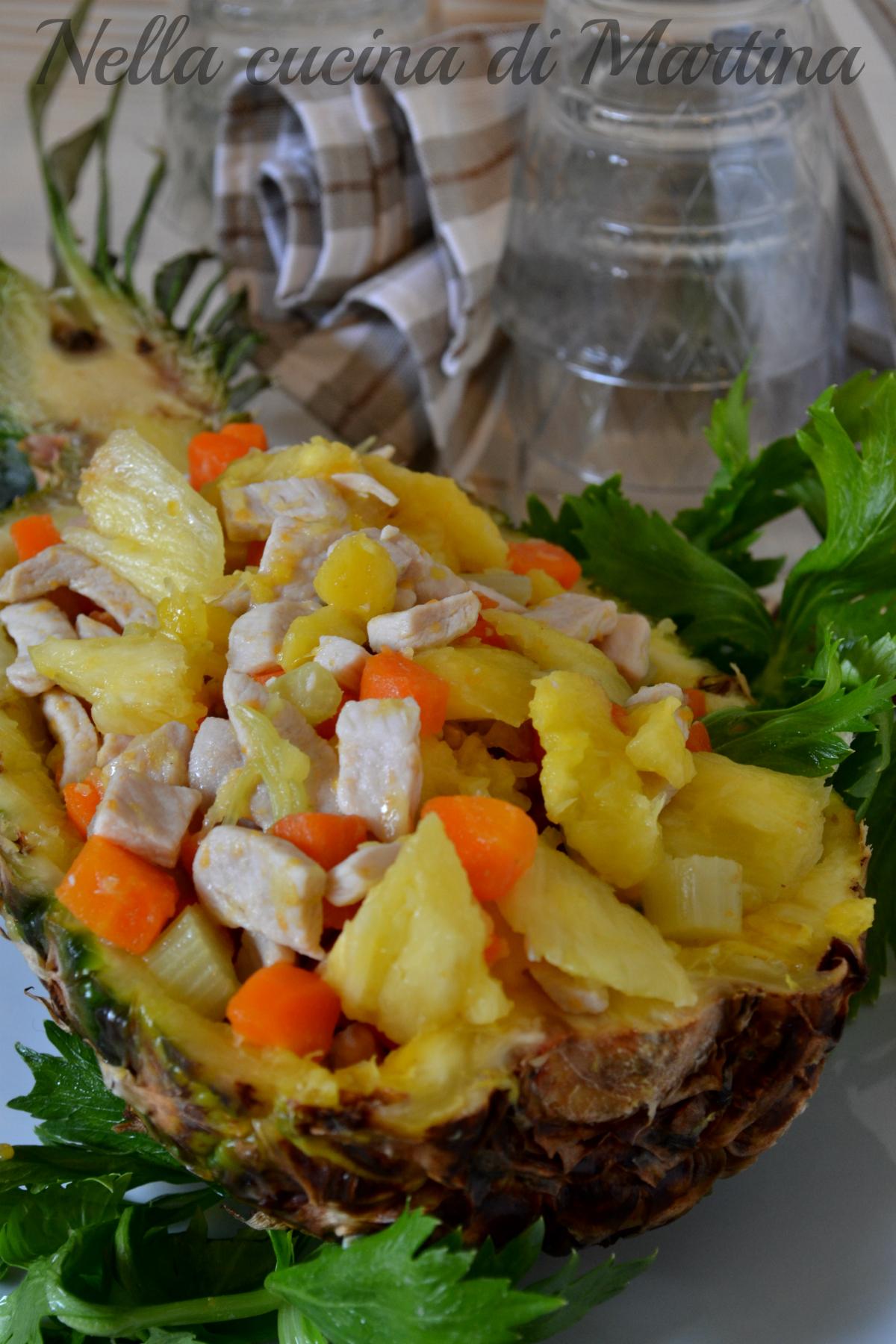pollo all'ananas e verdure ricetta nella cucina di martina