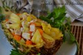 Pollo all'ananas e verdure