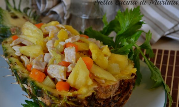 Pollo all'ananas e verdure