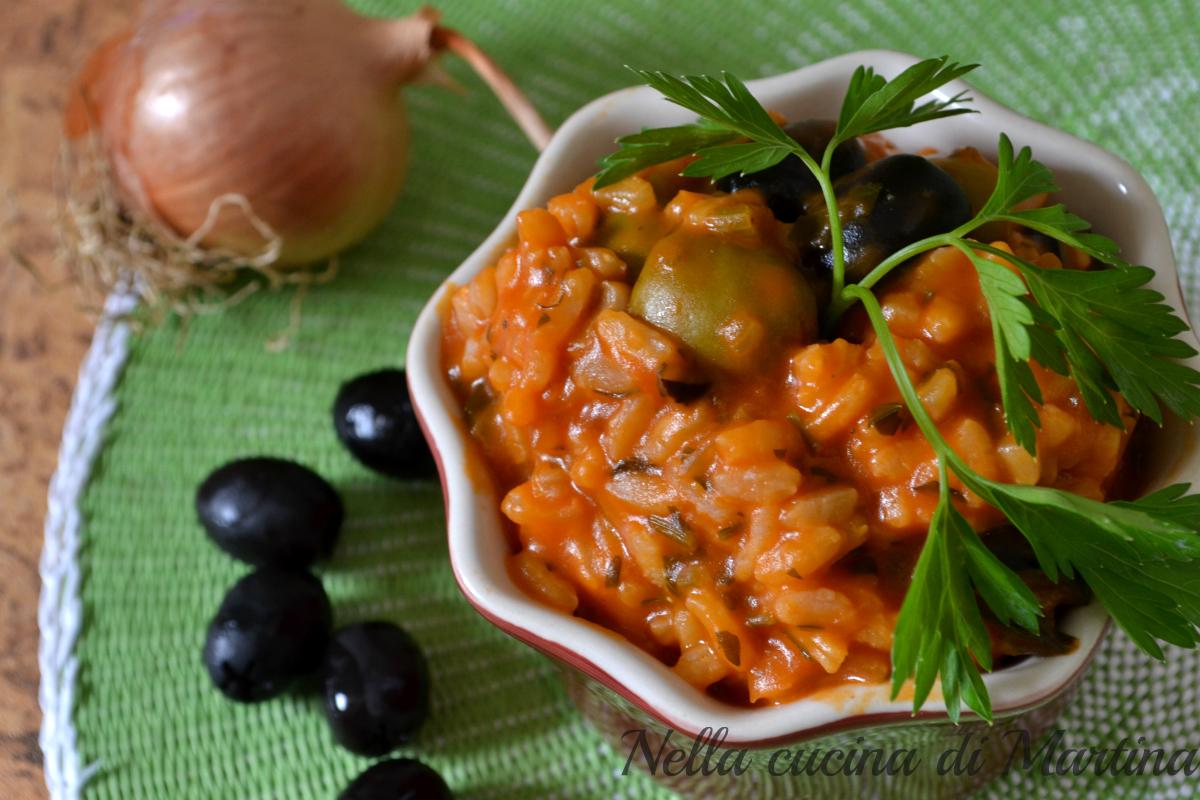 risotto alle olive ricetta nella cucina di martina