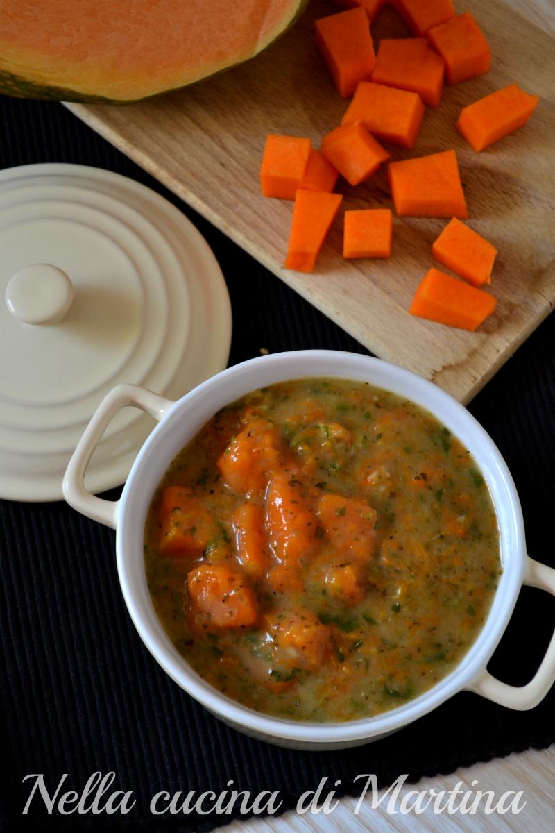 zuppa di zucca ricetta nella cucina di martina