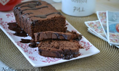 Plumcake al cioccolato extra dark