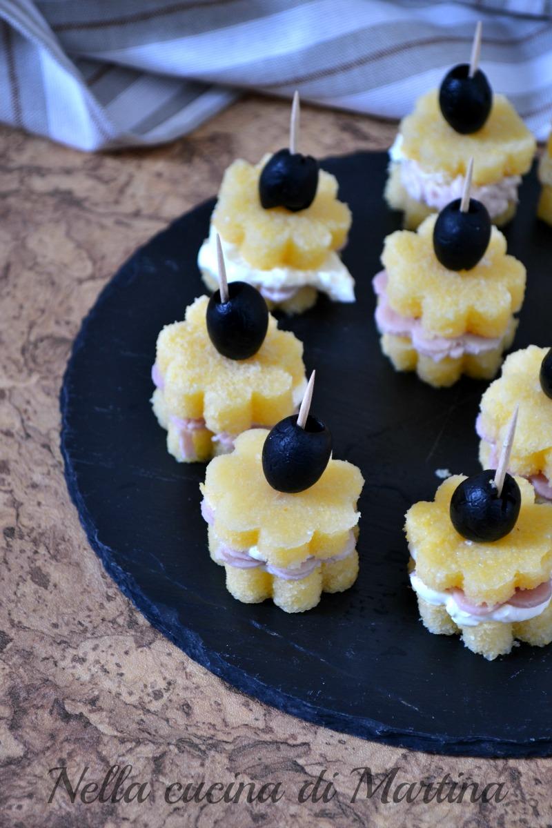 stuzzichini di polenta ricetta nella cucina di Martina