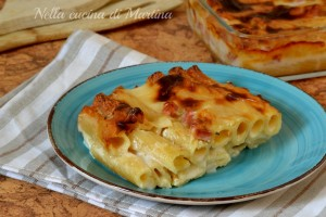 Tortiglioni formaggiosi al forno