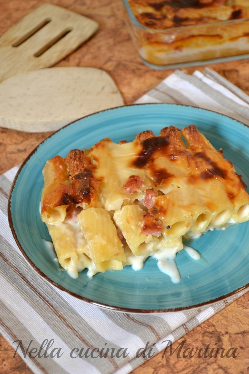 tortiglioni formaggiosi al forno ricetta nella cucina di martina