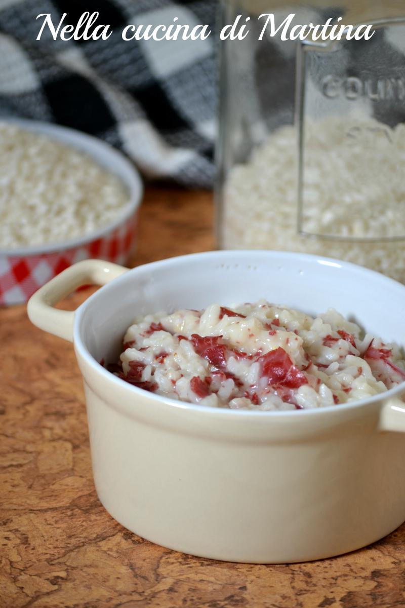 risotto con bresaola ricetta nella cucina di martina