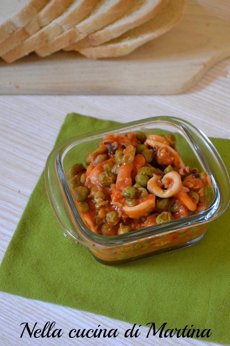 Seppie al pomodoro con piselli for Cucinare seppie