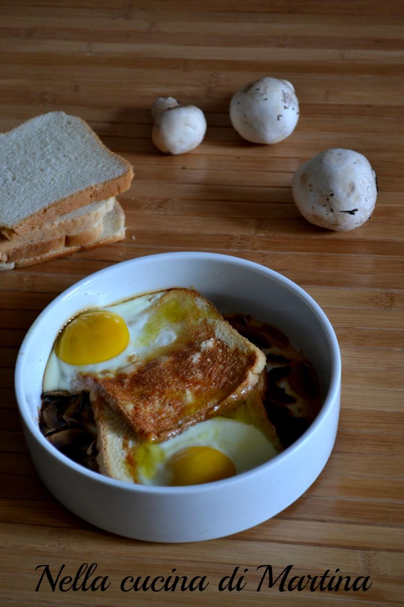 crostini con uovo ricetta nella cucina di martina