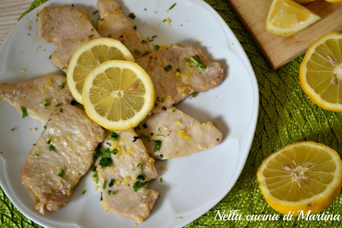 Scaloppine al limone ricetta veloce e leggera - La cucina di martina ...