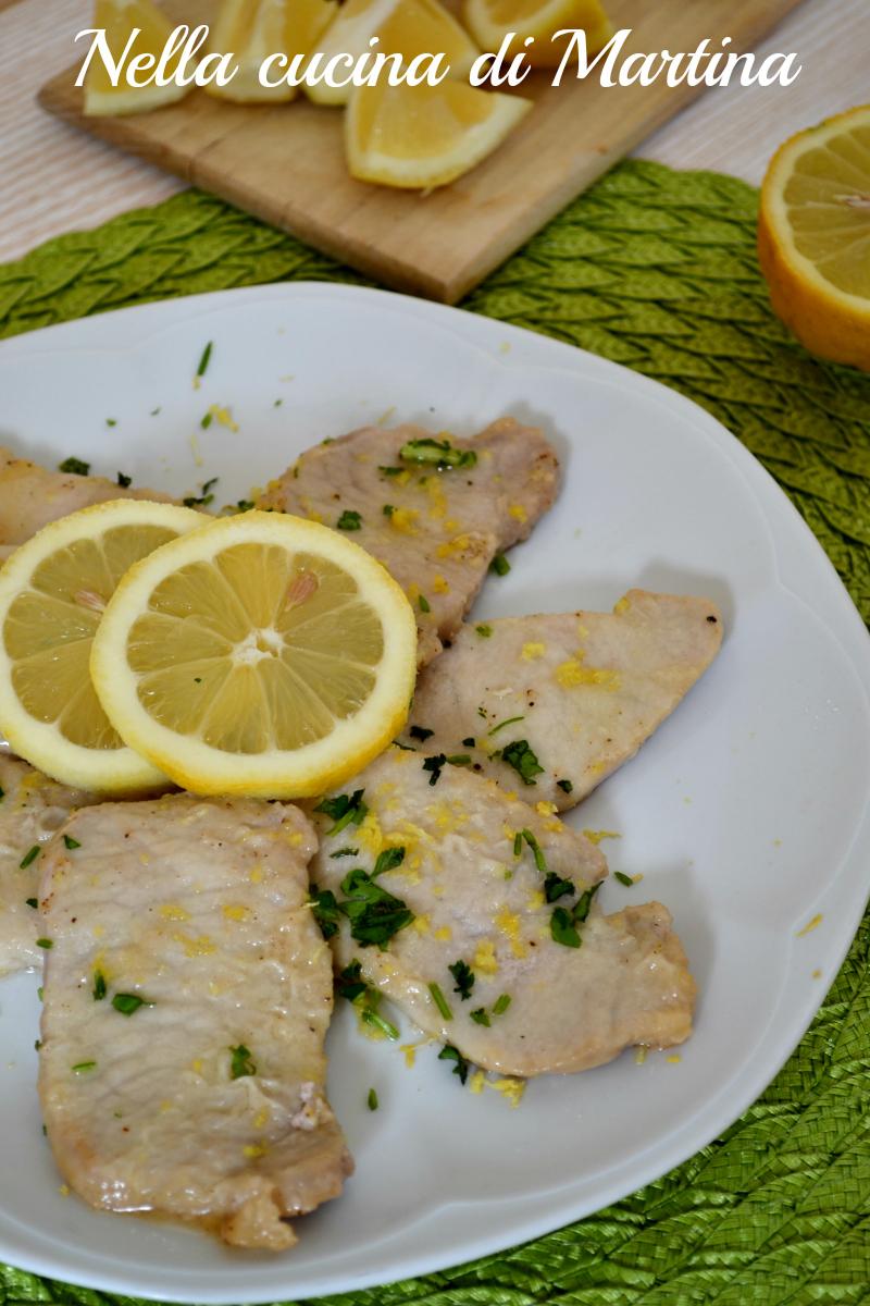 scaloppine al limone ricetta nella cucina di martina