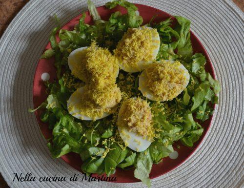 Uova alla mimosa, ricetta semplicissima