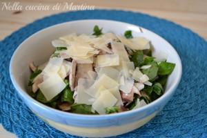 Insalata di funghi e rucola, ricetta light