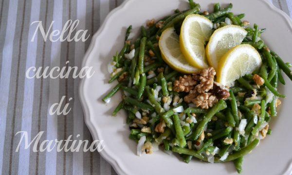 Fagiolini alle noci in insalata, light con 150 calorie a porzione
