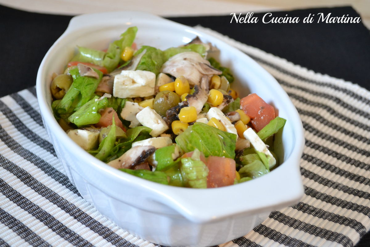insalata di feta ricetta nella cucina di martina blog
