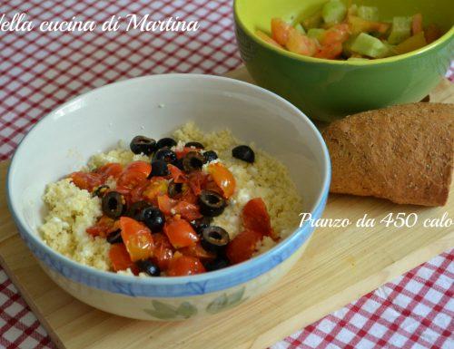Cous cous alle olive, 370 calorie a persona