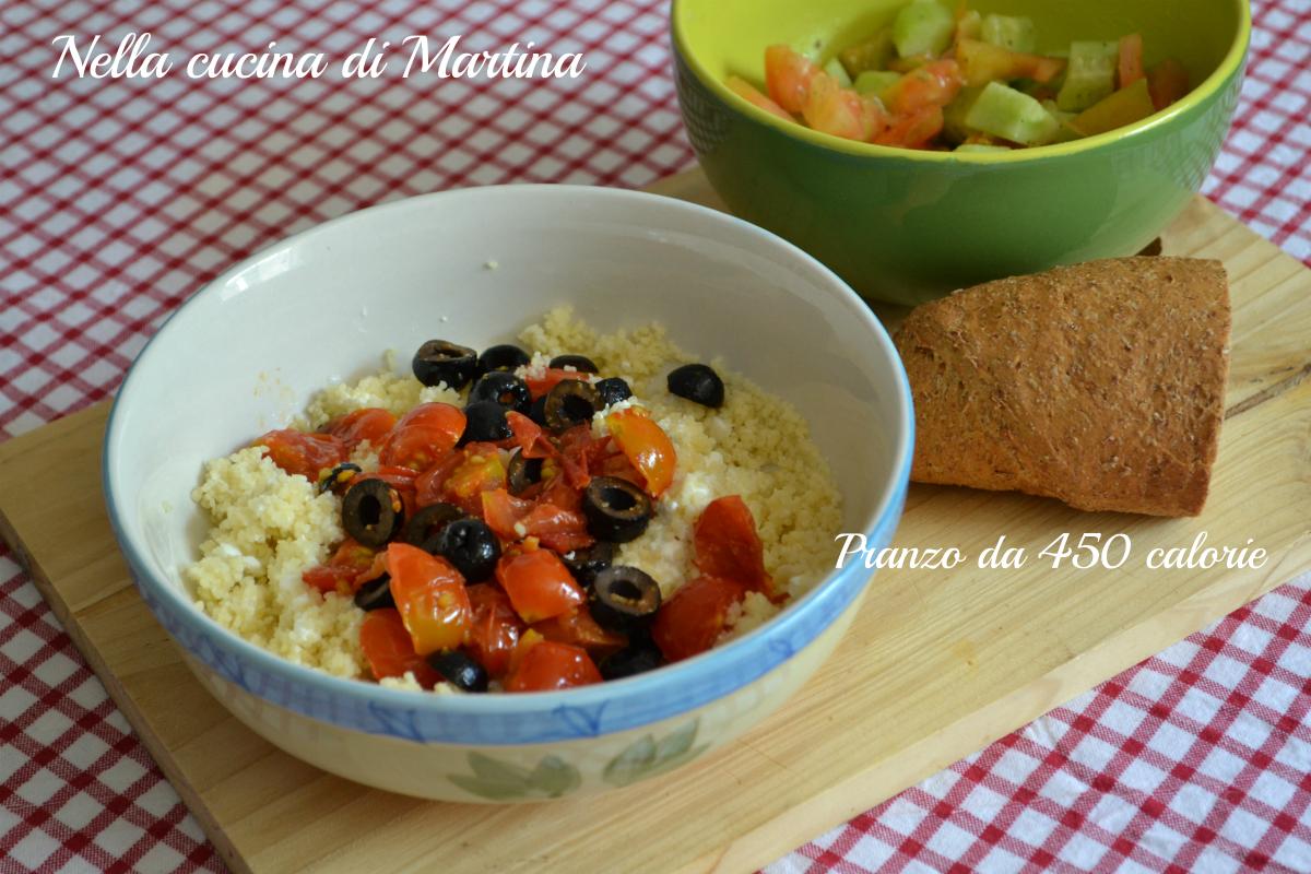 cous cous alle olive e pomodorini pachino