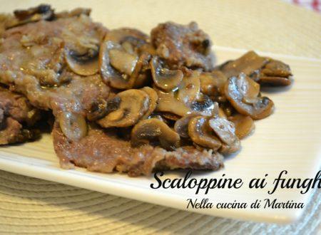 Scaloppine ai funghi, secondo piatto da 325 calorie a persona